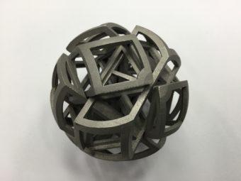 6面球体立体パズル  金属造形